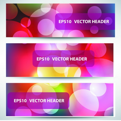 Abstract Headers Design Vector