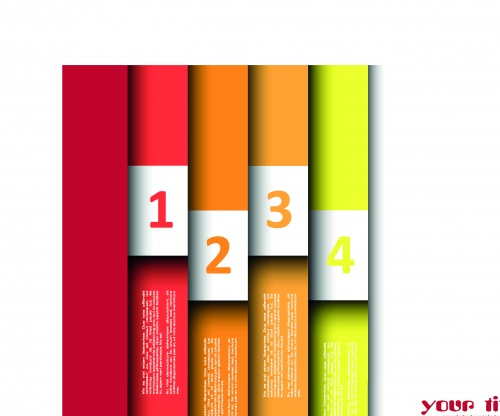 ������� � �������� ����� 14 | Banners with numbers vector set 14