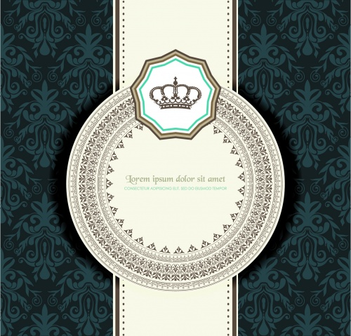 Retro Style Cards Vector