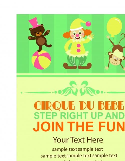 Цирк постеры часть 3 | Circus poster vector set 3