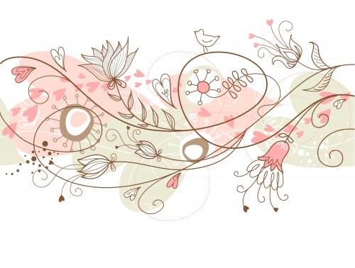 Абстрактный фон с цветами | Abstract flowers background