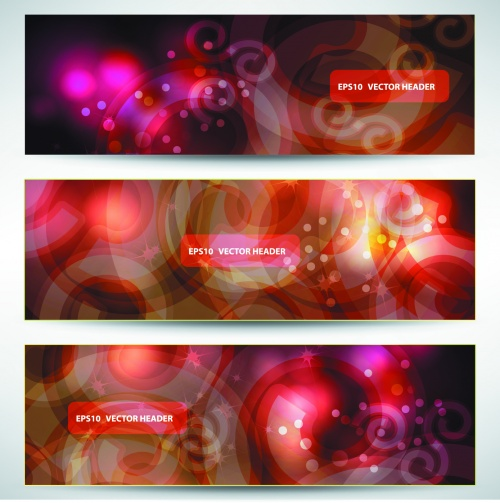 Abstract Color Banners Vector