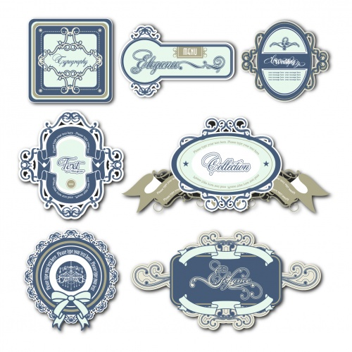 Ornate Framed Labels Vector