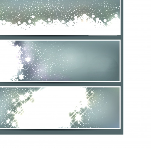 ������ ������� ���� �� ���������� | Winter banner snow flakes vector backgrounds