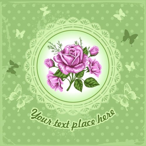 Romantic Cards with Roses Vector