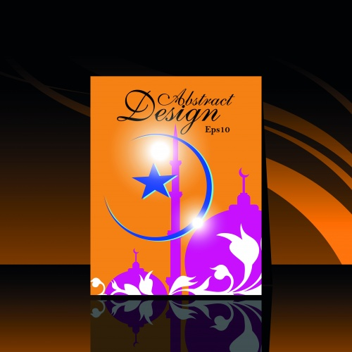 Флаеры тема Ислам часть 12 | Flyer Islam theme vector set 12