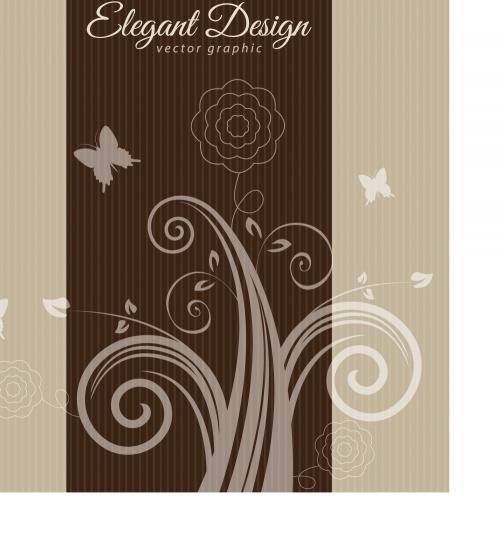 Elegant swirly background