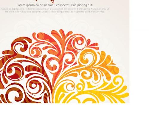 Elegant swirly background
