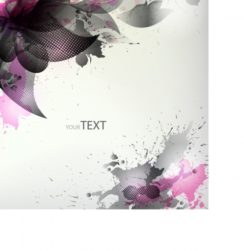 Background with colorful flower and blots