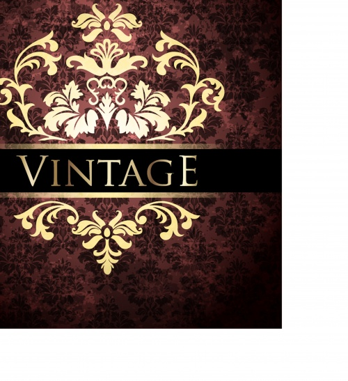 Vintage ornate greeting card