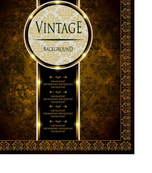 Vintage ornate greeting card