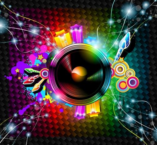 Флаеры для диско вечеринки в векторе , часть 2 - векторный клипарт