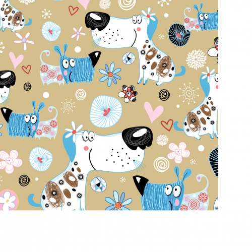 Fancy texture with cats, dogs and birds