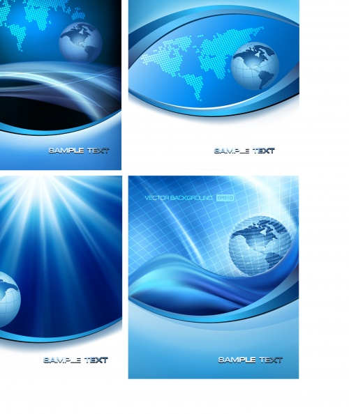 Abstract backgrounds with globe