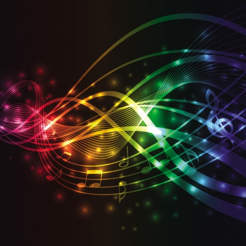 Music Wave Backgrounds Vector