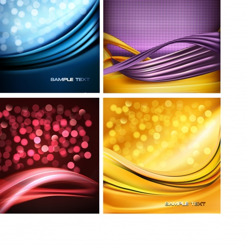 Colorful abstract backgrounds and banners