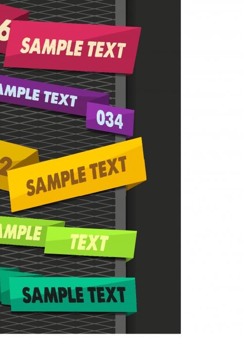 Современные эксклюзивные баннеры часть 2 | Modern exclusive banners and tag vector set 2