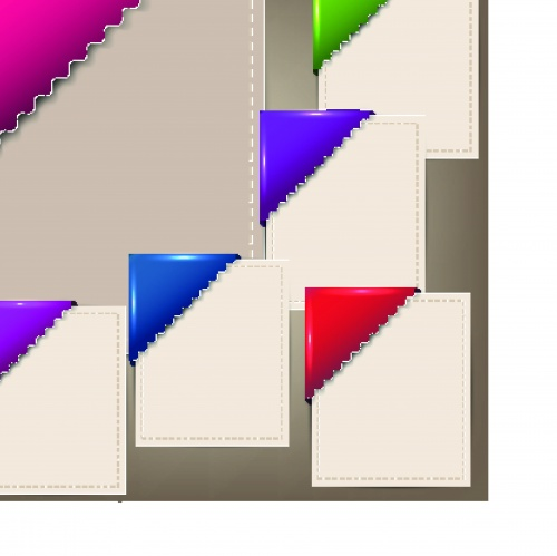 Цветные закладки   Colorful bookmarks and notes vector