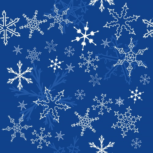 Фон со снежинками 22 | Snowflakes background 22