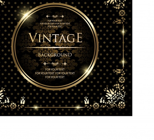 Vintage luxury greeting card