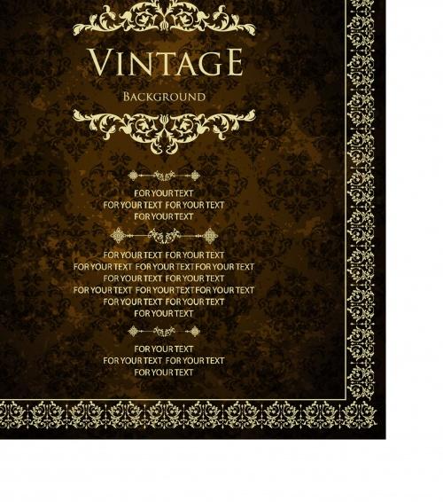 Vintage luxury greeting card