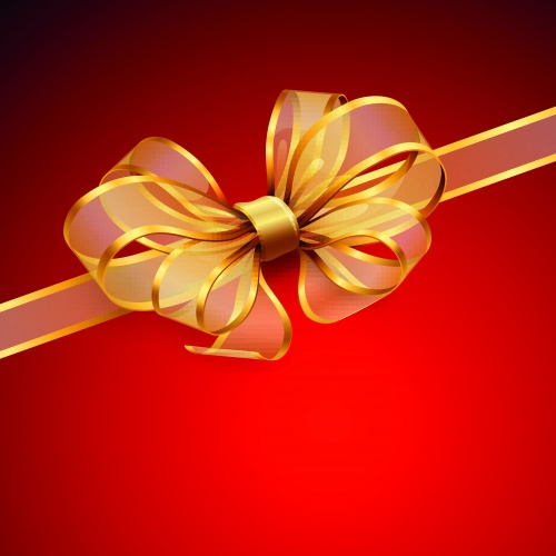 Бланк с бантом и лентой часть 3 | Blank sheet with ribbon and bow vector set 3