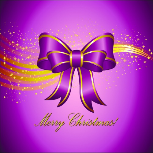 Violet background New year and Christmas