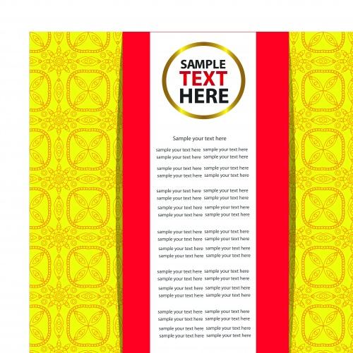Фоны с узорами и местом для текста часть 3 | Pattern background for text vector set 3