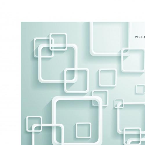 Абстрактные 3D фоны с геометрическими фигурами | Abstract 3D Geometrical Figure Design Backgrounds Vector