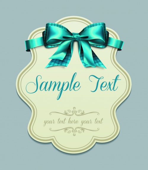Vintage Cards with Bows Vector