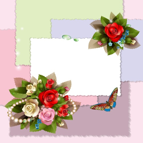 Фон с цветами 7 | Background with flowers 7