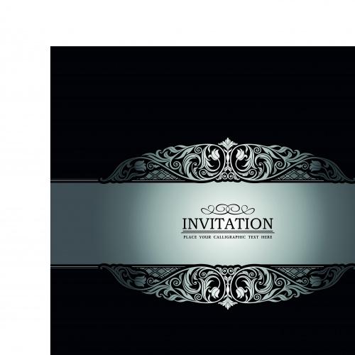 Винтажный пригласительный часть 6 | Vintage invitation vector backgrounds set 6