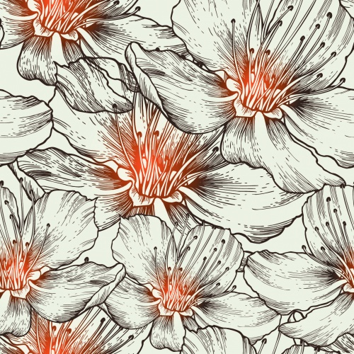 Vintage Flowers Backgrounds Vector