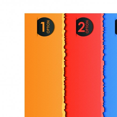 Яркие современные баннеры с цмфрами | Three modern colored banner vector