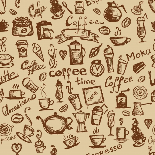 Фон с кофейной тематикой 5 | Coffee background 5