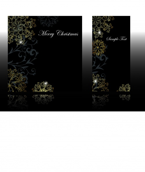 Black Vintage Gift Cards Vector