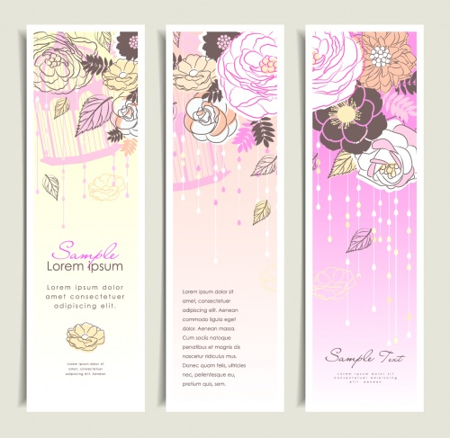 Jentle Floral Banners Vector 2