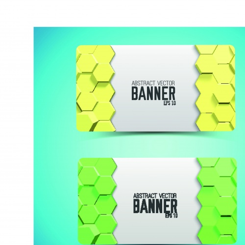 Баннеры геометрия соты | Banner geometric honeycomb vector