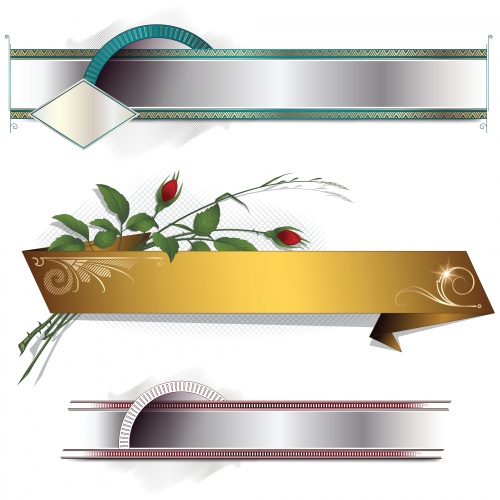 Vintage Decorative Banners Vector