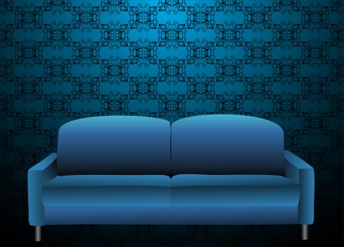 Sofas, tables and chairs - vector