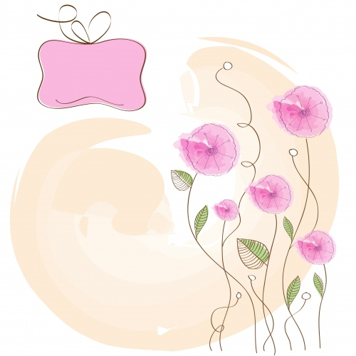 Stock: Romantic pink flowers background