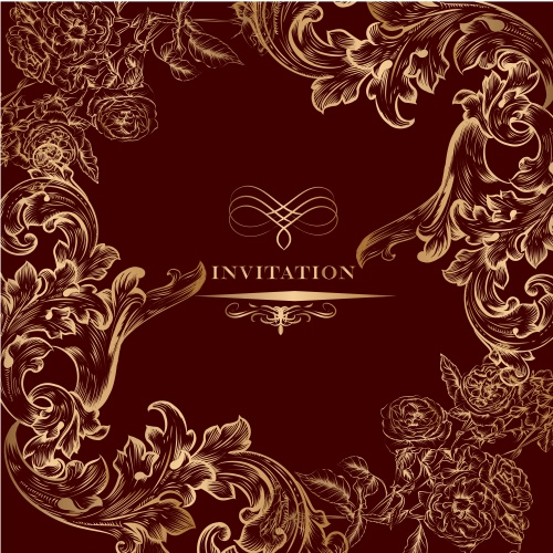 Invitation card with royal ornament