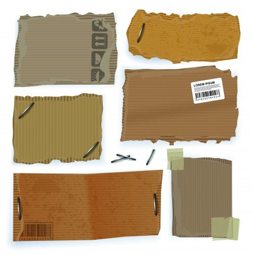 Cardboard tags set
