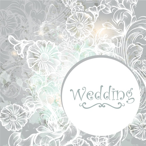 Stock: Elegant wedding invitation card