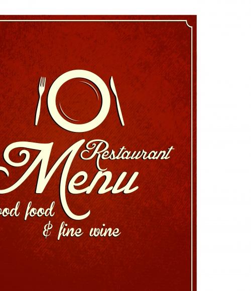 Меню для ресторана в ретро стиле | Restaurant menu retro cover vector