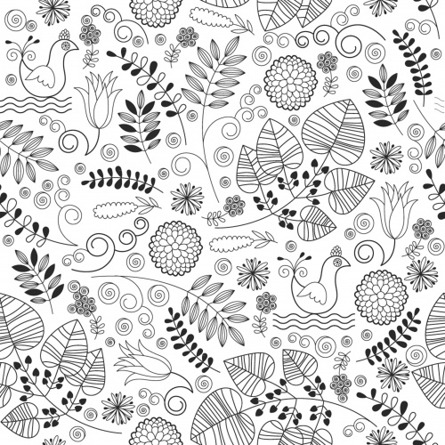 Funny seamless floral pattern