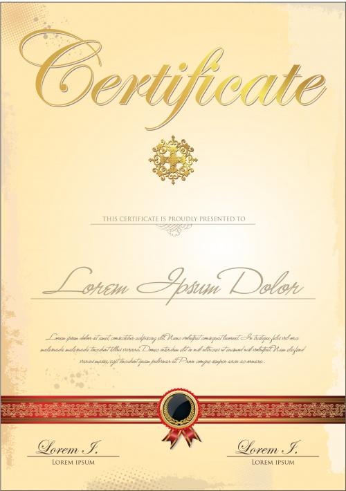 Certificate vector 25
