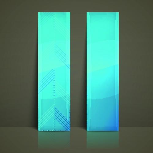 Глянцевые баннеры | Glossy vertical banners vector