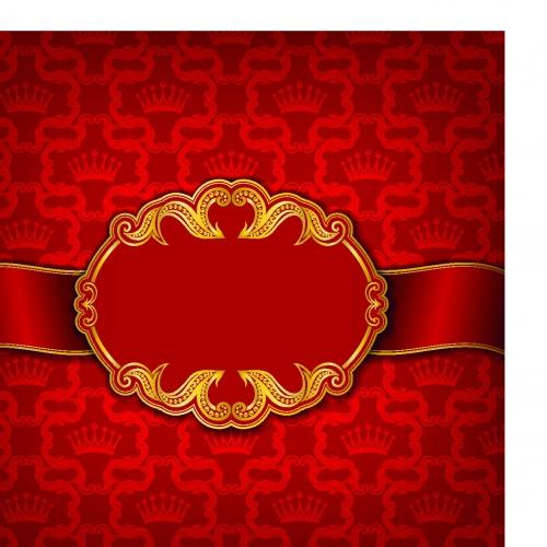 Винтажные рамки и фоны с короной | Vintage frame crown vector background