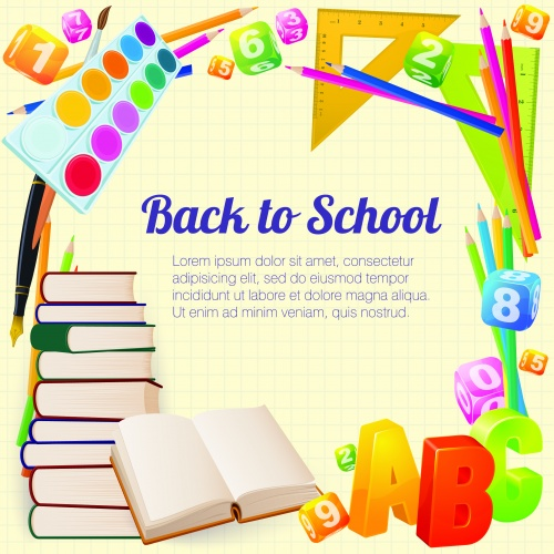 Back to school - vector backgrounds